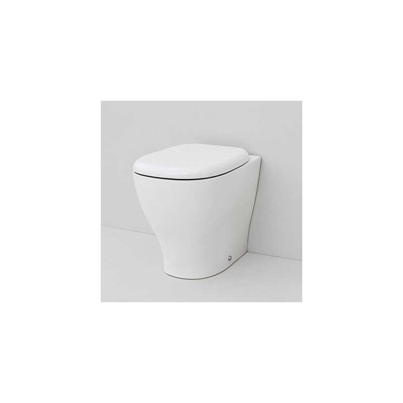 Sedile Wc Copriwater SERIE TEN ARTCERAM Bianco con cerniere cromo